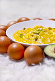 Ovos Scrambled Fotografia de Stock