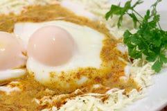 Ovos Soft-boiled sem escudos Imagens de Stock Royalty Free