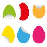 Ovos vazios felizes das etiquetas da cor de easter Imagem de Stock Royalty Free