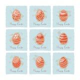 Ovos vermelhos da Páscoa ajustados Imagens de Stock Royalty Free
