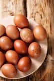 Ovos vermelhos na placa Foto de Stock Royalty Free