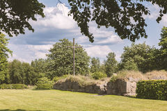 Ovraby church ruin Sweden Royalty Free Stock Photography