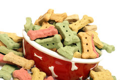 Ovreflowing Dog Treats Stock Photos
