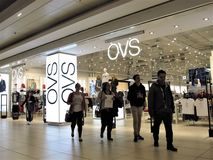 OVS fashion store in Rome stock photography
