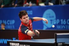 OVTCHAROV Dimitrij forehand stock images