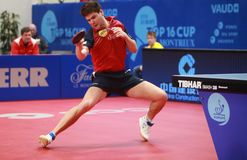 OVTCHAROV Dimitrij topspin royalty free stock photos
