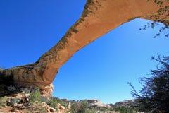 Owachomo bridge or arch in Natural Bridges National Monument, USA. Bridge or arch in Natural Bridges National Monument, Utah, USA Stock Photos