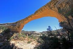 Owachomo bridge or arch in Natural Bridges National Monument, USA. Bridge or arch in Natural Bridges National Monument, Utah, USA Stock Photo