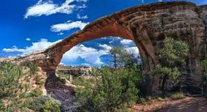 Owachomo bro i den nationella monumentet Utah USA för naturliga broar Arkivfoton