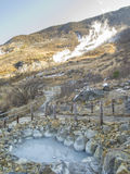 Owakudani火山的谷,箱根,日本 免版税库存图片
