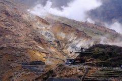Owakudani, η κοιλάδα ηφαιστείων σε Hakone Στοκ Φωτογραφίες