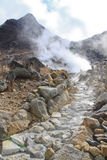 Owakudani hot springs Royalty Free Stock Photography