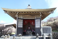 Owakudani Shrine. The sacred shrine of Owakudani stock photography