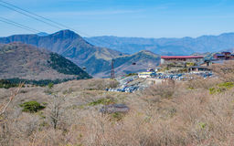 Owakudani, sulfur quarry in Hakone Royalty Free Stock Image