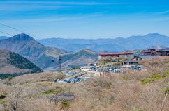 Owakudani, sulfur quarry in Hakone Royalty Free Stock Photography