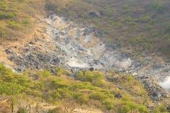 Owakudani, sulfur quarry, Japan Royalty Free Stock Photo