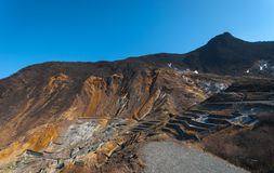 `Owakudani` volcanic valley Stock Images