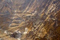 Owakudani, the volcano valley in Hakone Stock Photos