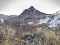 Owakudani vulkanisk dal, Hakone, Japan Arkivfoton