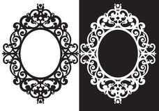 Owal ramy ornament ilustracji