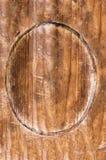 Owalny drewniany signbord zdjęcie stock