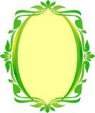 Owalny Zielonego złota ramy owal kwiecisty Fotografia Royalty Free