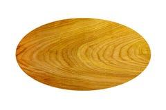 Owalu kształtny drewniany tło Obrazy Stock