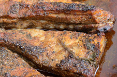 Owen baked pork ribs Royalty Free Stock Photos