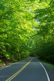 Owen's Creek Road. Photo of country road in northern Maryland Stock Photos