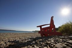 Owen Sound Ontario. Georgian Bay chairs Canada Stock Photography
