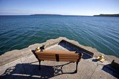 Owen Sound Ontario. Georgian Bay chairs Canada Royalty Free Stock Image