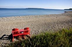 Owen Sound Ontario. Georgian Bay chairs Canada Stock Photos