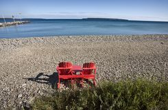 Owen Sound Ontario. Georgian Bay chairs Canada Stock Images