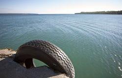Owen Sound Ontario. Georgian Bay tire dock Canada Stock Photos