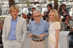 Owen Wilson, Woody Allen Stock Images