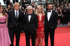 Owen Wilson, Woody Allen, Rachel McAdams & Michae Fotografia Stock