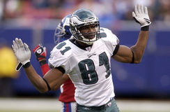 Owens. Philadelphia Eagle receiver Terrell Owens in 2004 Royalty Free Stock Photography