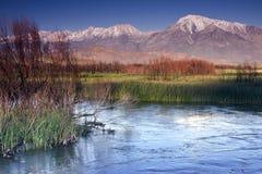 Owens Fluss an der Kreide-Täuschung Lizenzfreies Stockfoto