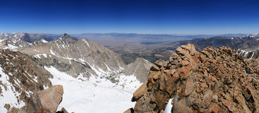 Owens Valley. View down into the Owens Valley from the summit of Mount Humphreys in the Sierra Nevada mountains of California Royalty Free Stock Image
