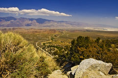 Owens Valley From Above Royalty Free Stock Images
