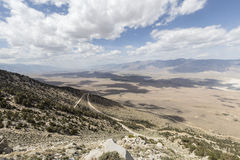 Owens Valley California. Sweeping vista towards Lone Pine and the Alabama Hills in California's Owens Valley Royalty Free Stock Photo