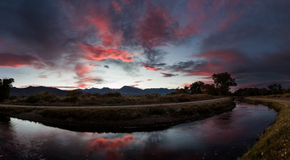 Owens Valley Sunset Stock Image
