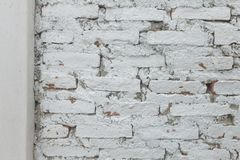 OWhite concrete block wall texture background Royalty Free Stock Image