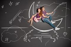 Łowić na księżyc Zdjęcie Royalty Free