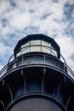 Łowiecka wyspy latarnia morska z niebieskim niebem Zdjęcie Stock