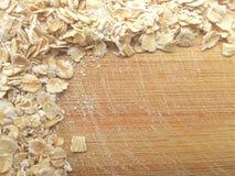 Owies granica na drewnianym tle Zdjęcie Royalty Free