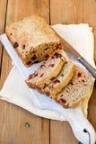 Owies i przeliterowany mąka chleb fotografia stock