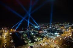Oświetleniowy pokaz Hobart Obrazy Stock