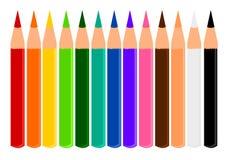 Ołówkowi kolory Zdjęcia Royalty Free