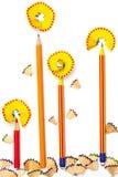 Ołówkowi kwiaty Obrazy Royalty Free